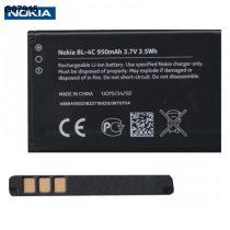 Nokia 108 / 6300 / 6300i / 6301 / 7200 / 7270 gyári 950 mAh-ás LI-ION akkumulátor - BL-4C