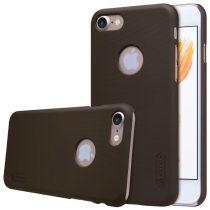 Apple iPhone 7 / 8 Nillkin Super Frosted műanyag telefontok + kijelzővédő fólia, Fekete