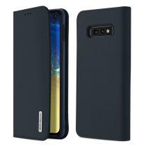 Samsung Galaxy S10 Lite DUX DUCIS Wish elegáns oldalra nyíló valódi bőr telefontok, Kék