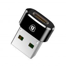 Baseus Adapter (Type-C / USB, töltés, adatátvitel) (CAAOTG-01), Fekete