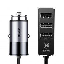 Baseus Enjoy Together autós szivargyújtós töltő (4x USB 5.5A) - CCTON-0G, Szürke