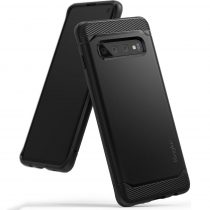 Samsung Galaxy S10 Ringke Onyx csiszolt fém mintázatú műanyag ütésálló telefontok, Fekete