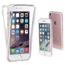 Apple iPhone 7 / 8 360°-os ultra vékony szilikon telefontok (elő+hátlap),átlátszó