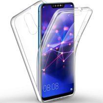 Huawei Mate 20 Lite 360°-os 2 részes műanyag/szilikon telefontok, Átlátszó