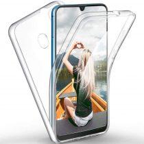 Huawei P Smart (2019) / Honor 10 Lite 360°-os 2 részes műanyag/szilikon telefontok, Átlátszó