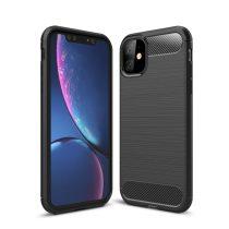 Apple iphone XI Pro Carbon Case karbonmintás szilikon telefontok, Fekete