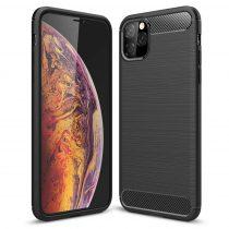 Apple iphone XI Carbon Case karbonmintás szilikon telefontok, Fekete