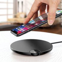 Baseus Digital LED Display vezeték nélküli töltő LED kijelzővel (Lightning kábel - 1,2m) - WXSX-01, Fekete