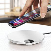 Baseus Digital LED Display vezeték nélküli töltő LED kijelzővel (Lightning kábel - 1,2m) - WXSX-02, Fehér